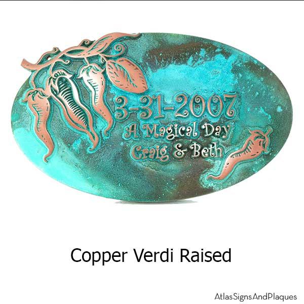 Red Hot Chili Plaque - Copper Verdi