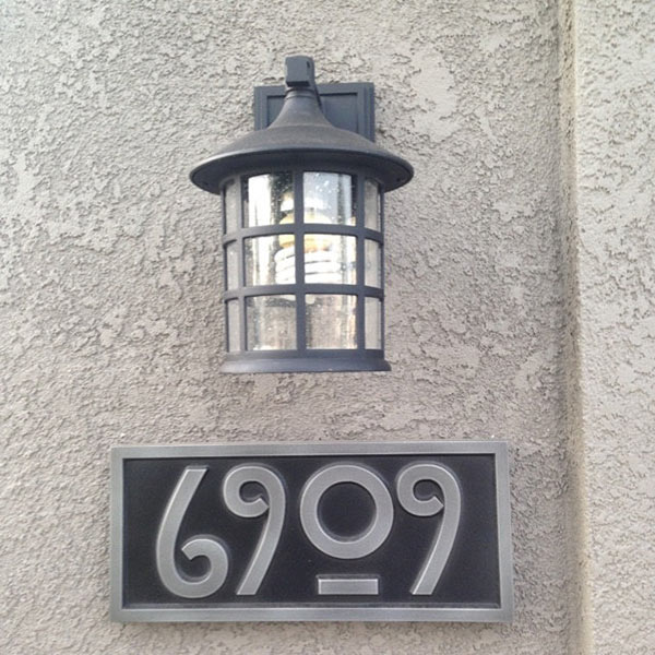 This plaque is unique and goes perfectly with our paint. We've had several compliments from family, friends, & neighbors. Good job! -Robin 5/2015