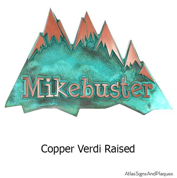 Snow Capped Mountains - Copper Verdi