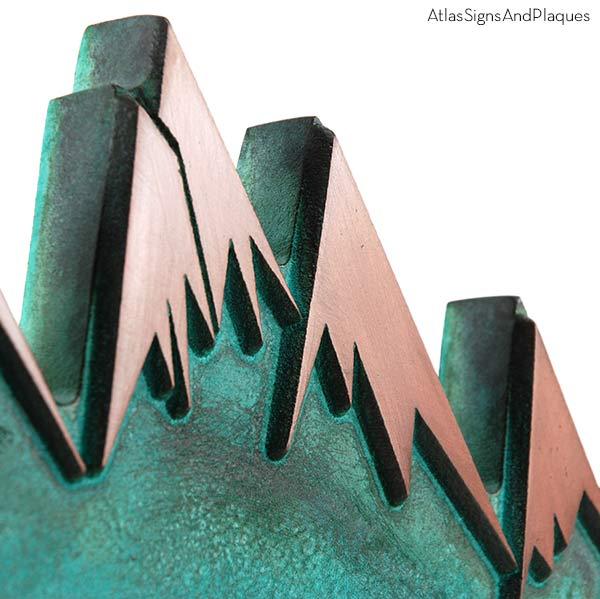 Snow Capped Mountains - Copper Verdi Detail
