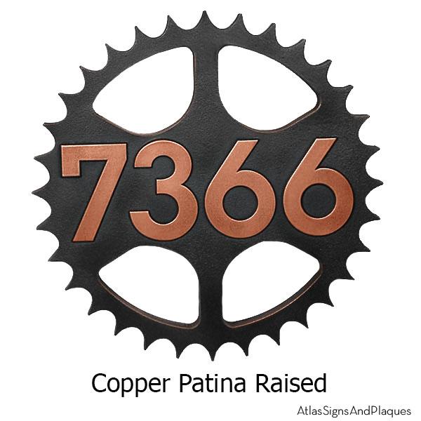 Sprocket Address Plaque - Copper
