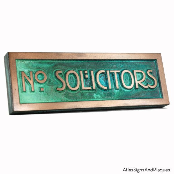 Stickley No Solicitors - Bronze Verdi