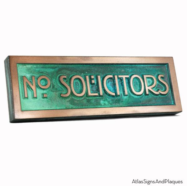 Stickley No Solicitors - Bronze Verdi