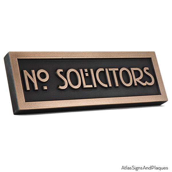 Stickley No Solicitors - Bronze