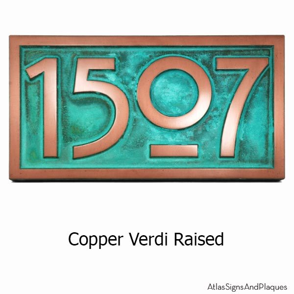 Stickley Numbers ONLY - Copper Verdi