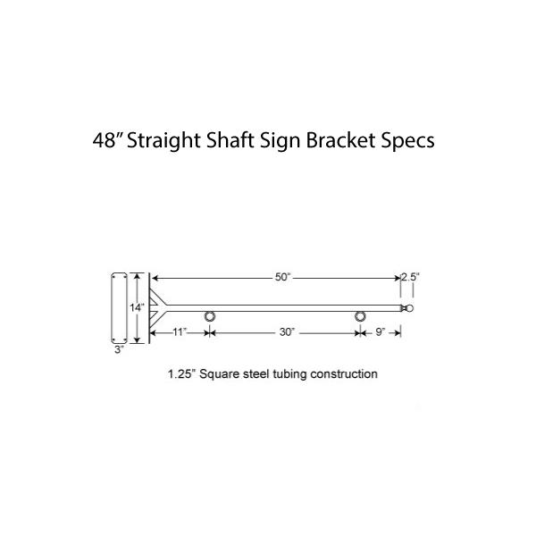 "48"" Straight Shaft Bracket Specs"