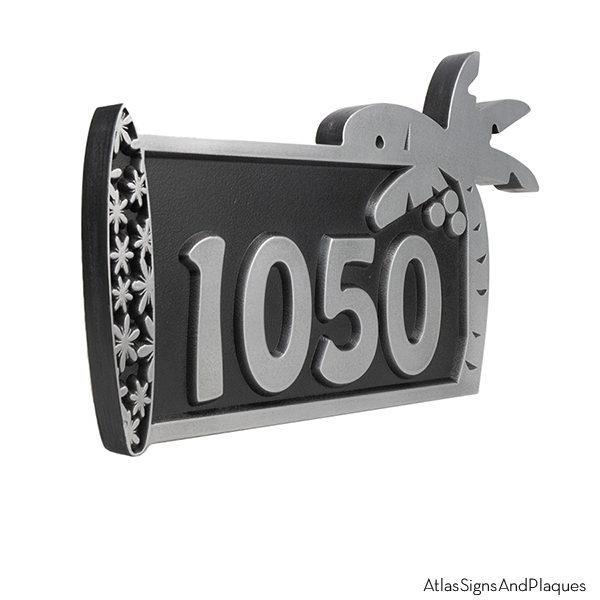 Surfboard Address Plaque - Pewter