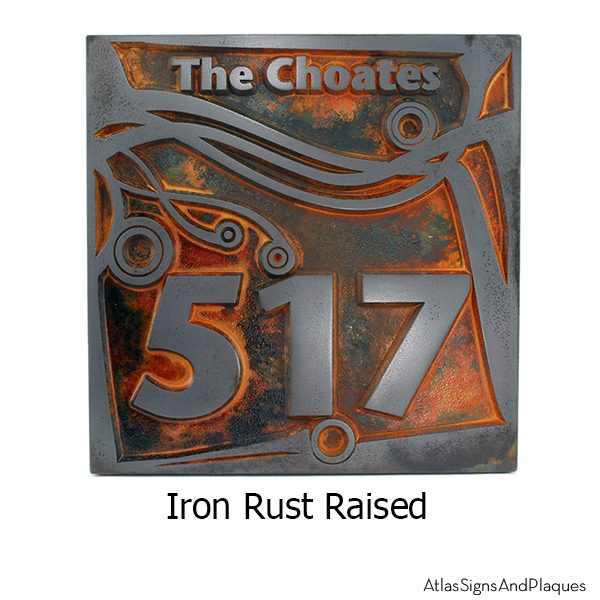 Swirl not so Square - Iron Rust