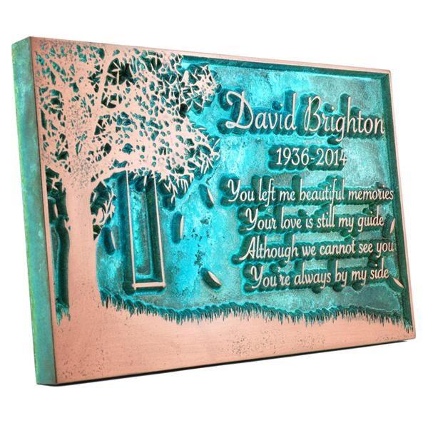 Tree Swing Sign - Copper Verdi