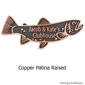 Trout Swimming Upstream - Copper