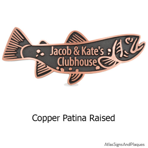 Trout Swimming Upstream - Copper