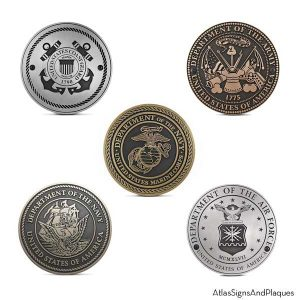 Military Service Plaques - Set of 5 Branches
