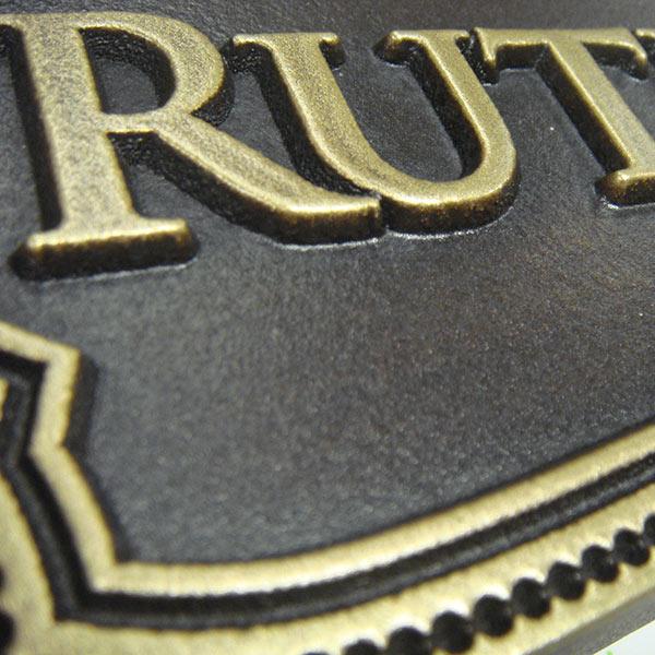 Victorian Name Plaque - Brass Detail