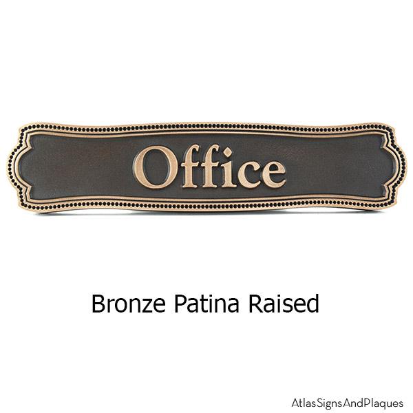 Victorian Name Plaque - Bronze