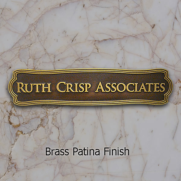 Victorian Name Plaque - Brass