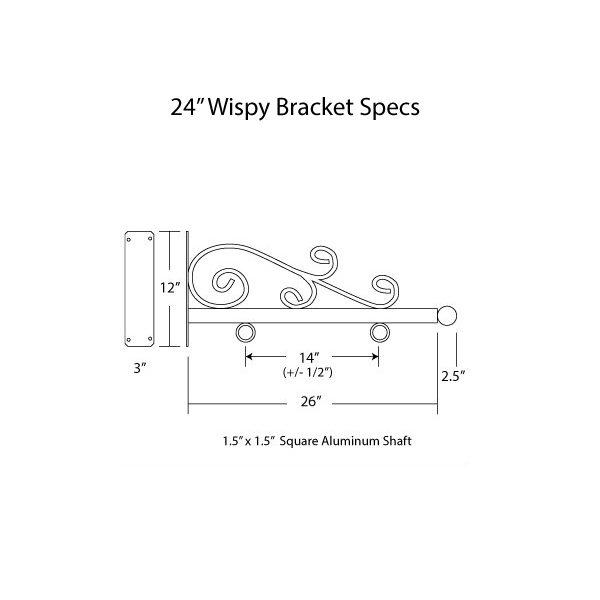 """24"""" Wispy Bracket Specs"""