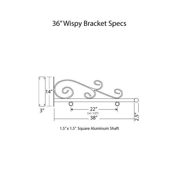 """36"""" Wispy Bracket Specs"""
