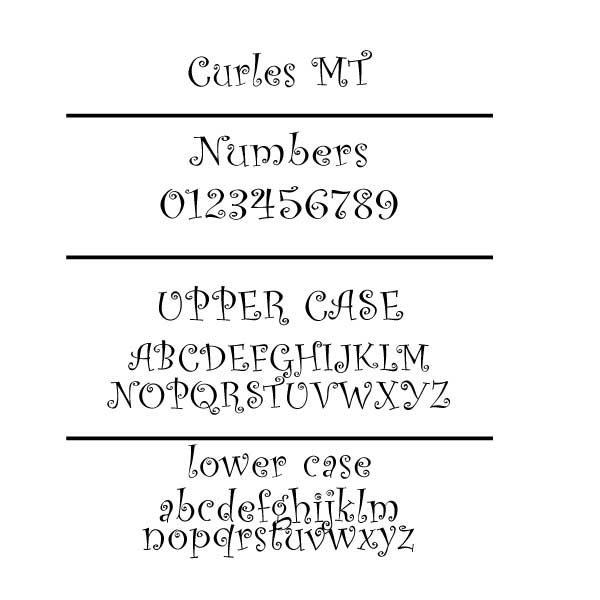 Curles MT Font