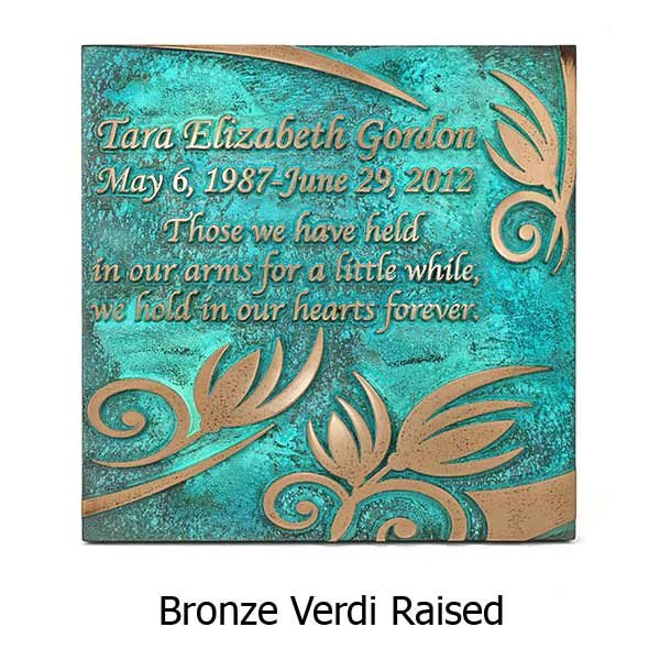 Flowered Memorial - Bronze Verdi