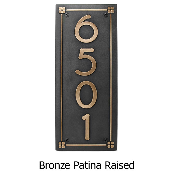 Frank Lloyd Eaglefeather Plaque - Bronze Shown with Optional T30 Screws