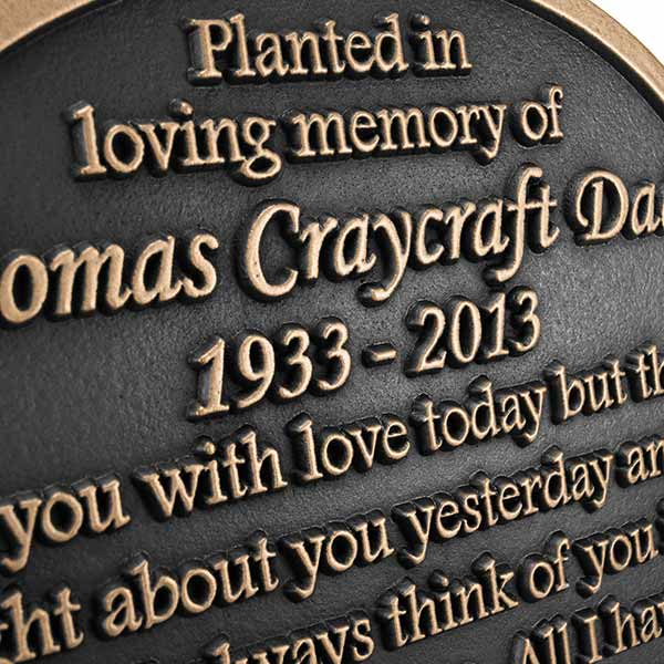 Garden Memorial Plaque Atlas Signs and Plaques