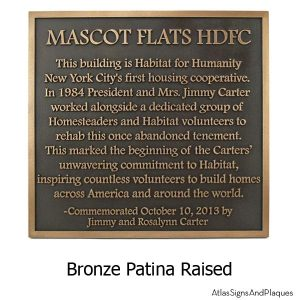 Historical Marker Uncomplicated - Bronze