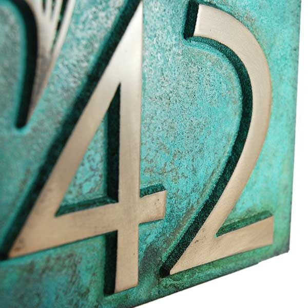Marlin Home Number - Bronze Verdi Detail