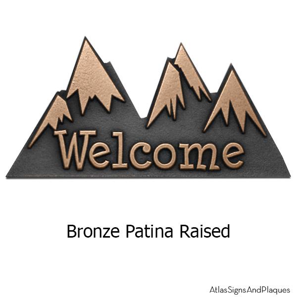 Mini Snow Capped Mountains - Bronze