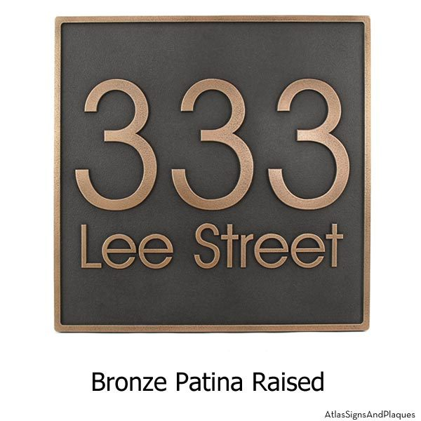 Modern Advantage Address Plaque - Bronze