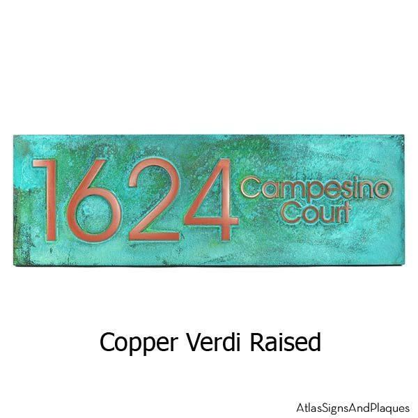 Modern Advantage Street Sign - Copper Verdi
