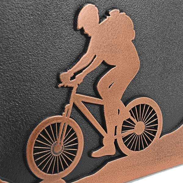 Mountain Bike Address Plaque - Copper Detail