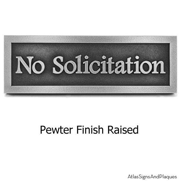 No Solicitation Simple Footlite Font - Pewter