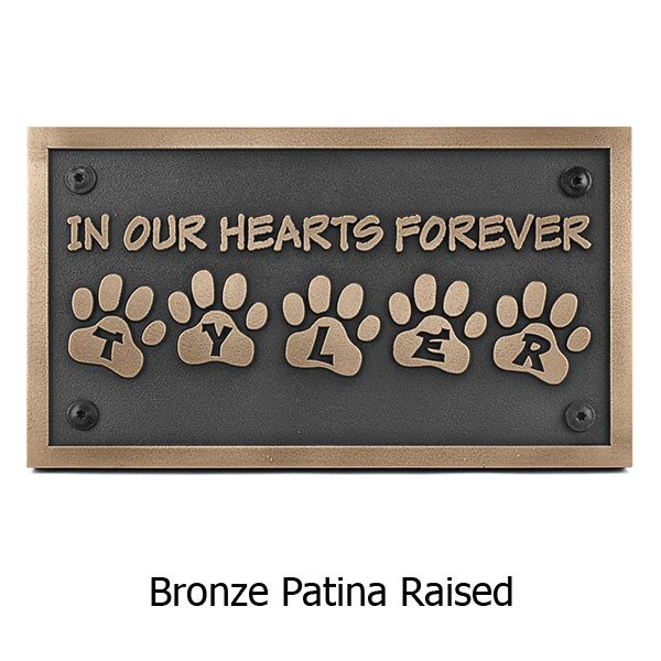 Pet Memorial Plaque - Bronze Shown with Optional T30 Screws