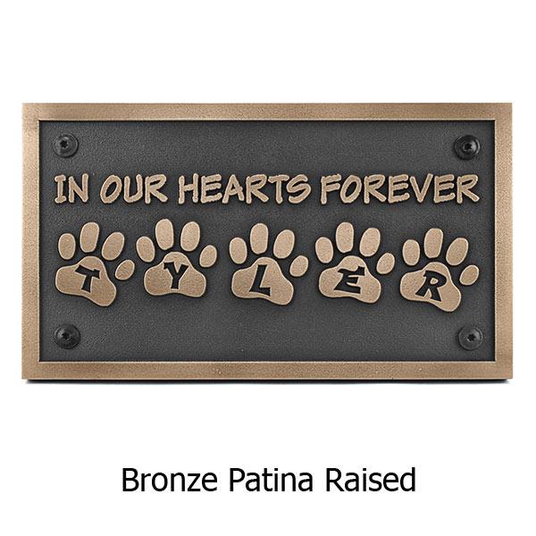 Pet Memorial Plaque - Bronze Shown with Optional T30 Screws
