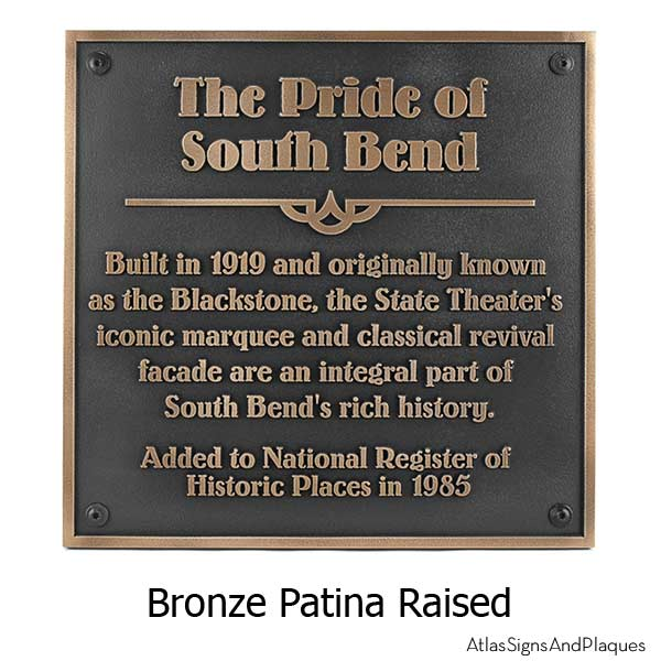 Square Historical Plaque Bronze - with Optional T30 Screws
