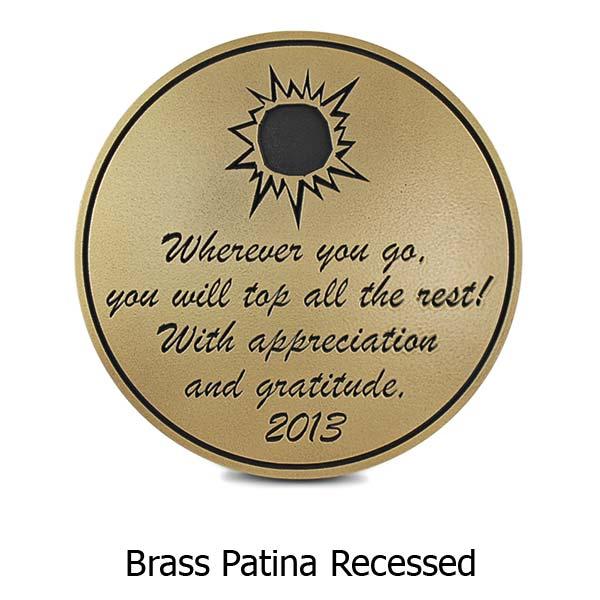 Round Memorial Plaque - Brass