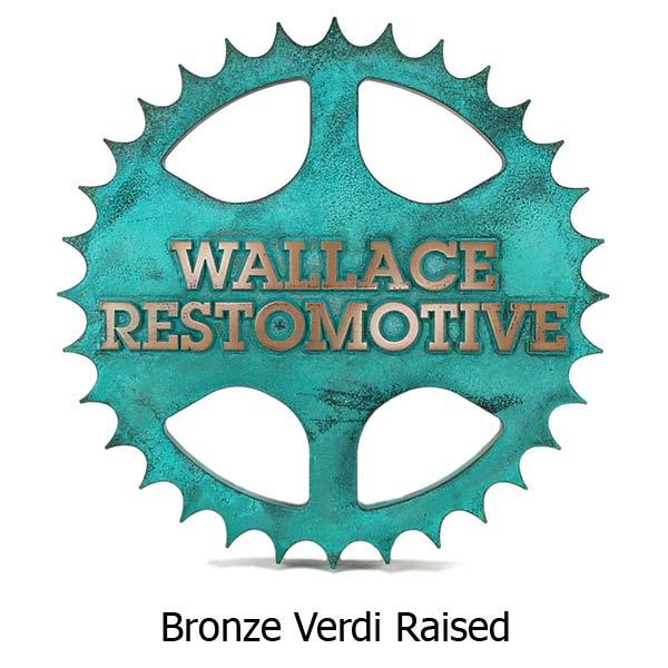 Sprocket Address Plaque - Bronze Verdi