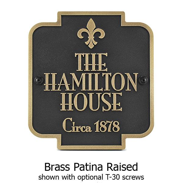 Stanton Marker - Brass Shown with Optional T30 Screws