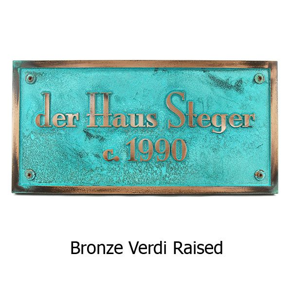 Stanton PlaqStanton Plaque - Bronze Verdi Shown with Optional T30 Screws ue - Bronze Verdi