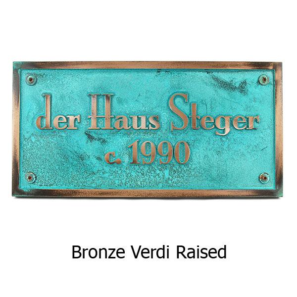 Stanton PlaqStanton Plaque - Bronze Verdi Shown with Optional T30 Screws ue - Bronze Verdi