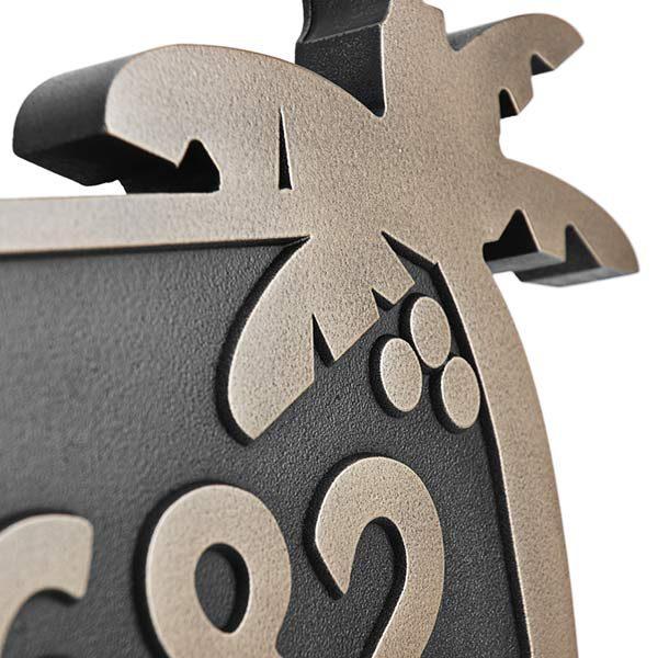 Surfboard Address Plaque - Bronze Detail