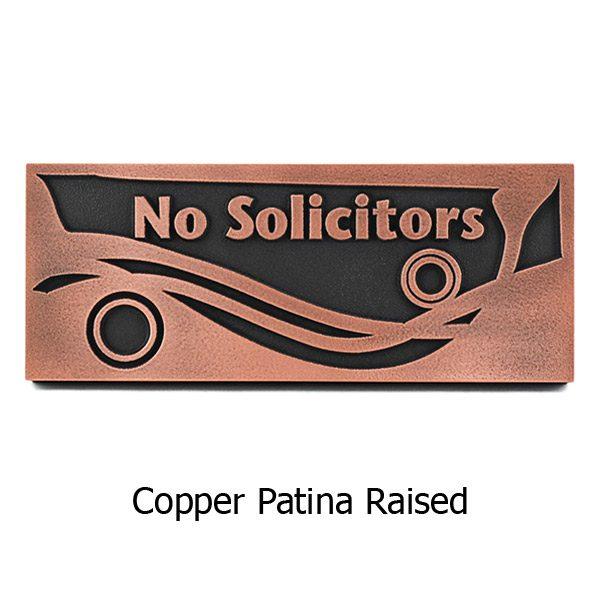 Swirls No Solicitors - Copper
