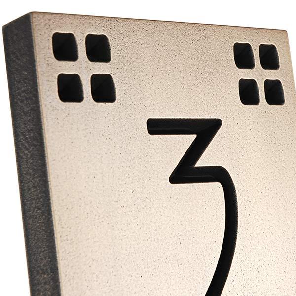 Vertical American Craftsman Home Numbers - Bronze Detail