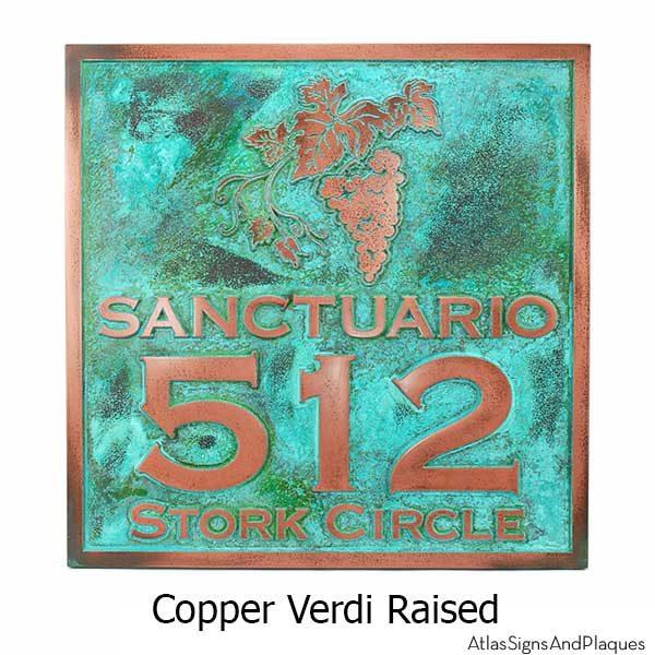 Villa Sign - Copper Verdi