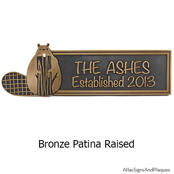 Woodland Animals Plaque - Bronze