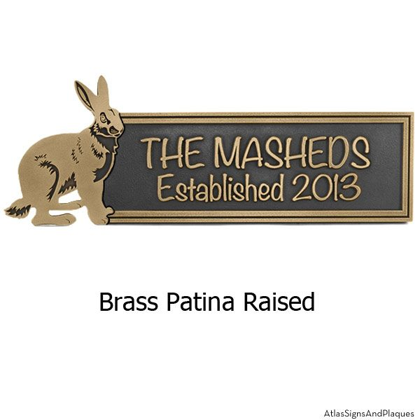 Woodland Animals Plaque - Brass