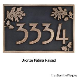 Acorn Address Plaque