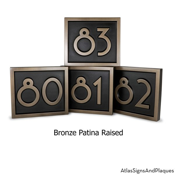 Large Commercial Projects Number Plaques