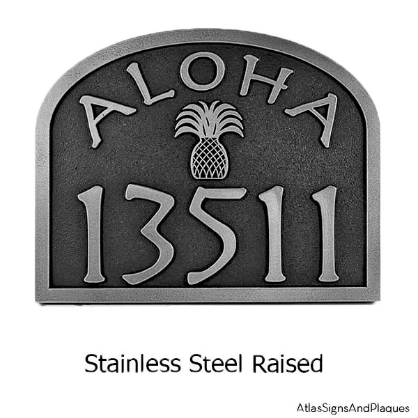 Aloha Plaque Stainless Steel