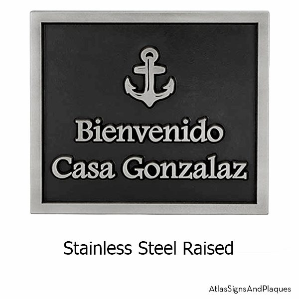 Stainless Steel Anchors Away Wedding Plaque